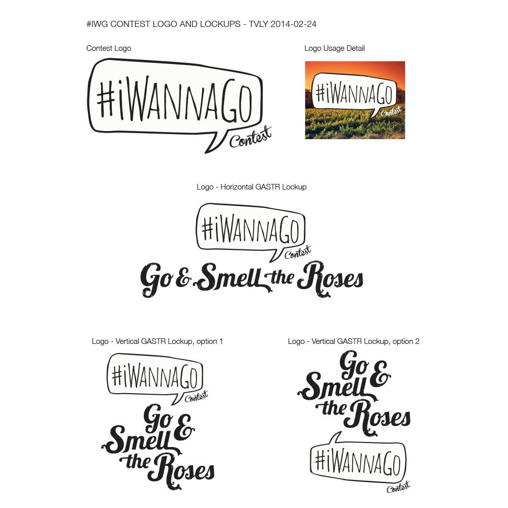 #iWannaGo Contest Logo Variations