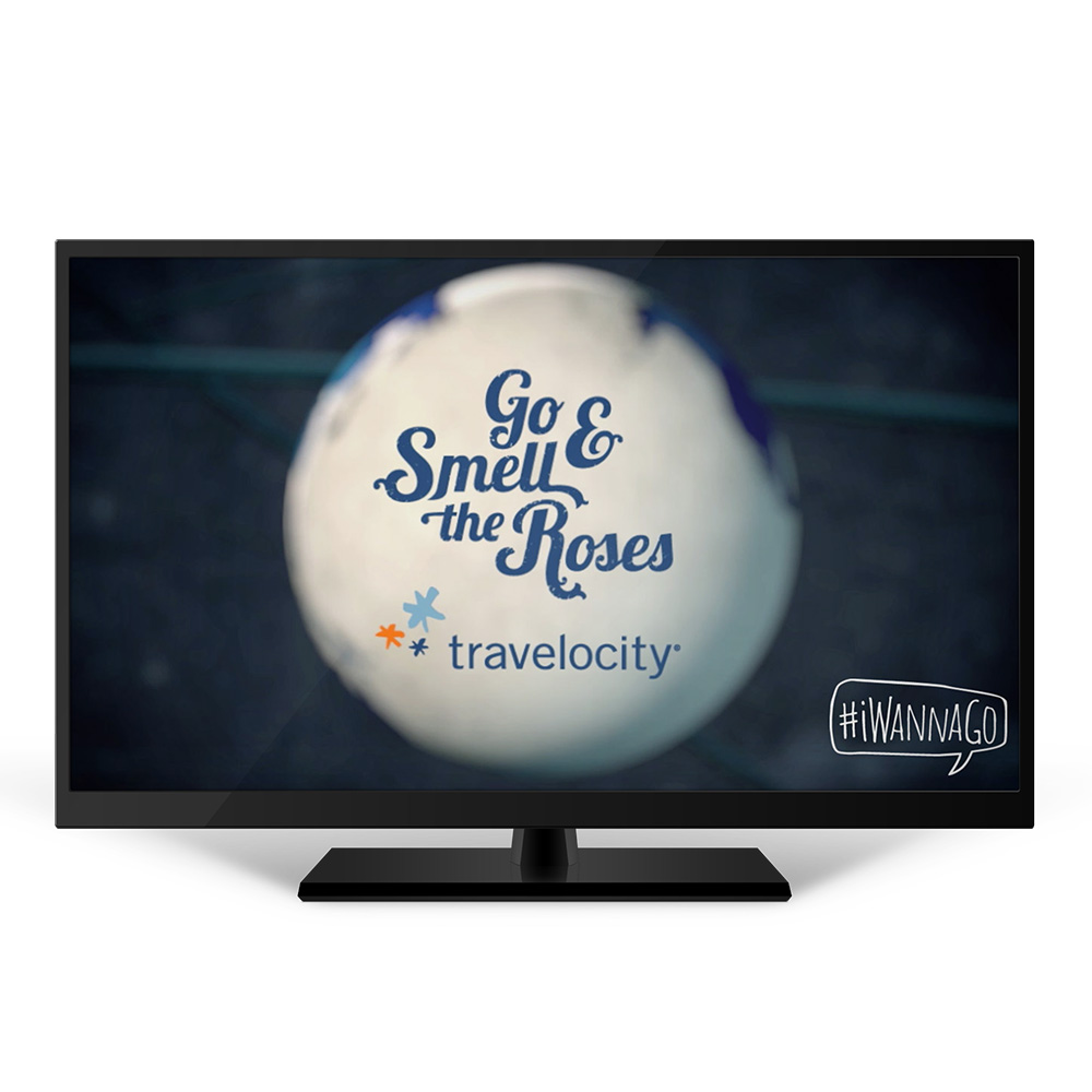 #iWannaGo Logo as seen on TV ad placement during CBS The Amazing Race